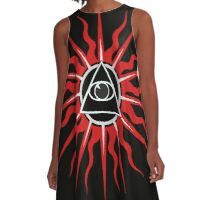 Red eye solar energy A-Line Dress