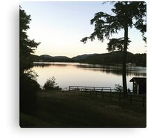 Sunset on Mirror Lake Canvas Print