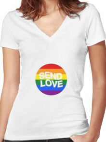 Send Love Women's Fitted V-Neck T-Shirt