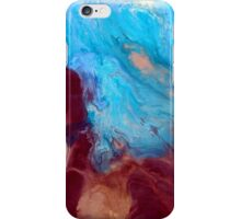 BLISS earth tone fluid acrylic abstract art painting or print contemporary artwork iPhone Case/Skin