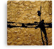 Black and Gold Abstract Giraffe Print Art by Holly Anderson Artist  Canvas Print