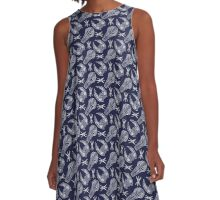 Battlescar - Blue/White A-Line Dress