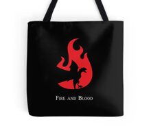 Fire and Blood Tote Bag