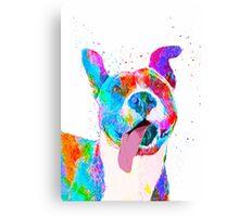 Pit Bull Terrier Pop Art Pet Portrait Canvas Print