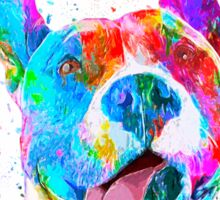 Pit Bull Terrier Pop Art Pet Portrait Sticker