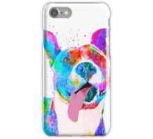 Pit Bull Terrier Pop Art Pet Portrait iPhone Case/Skin