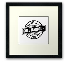 Cole Harbour Black  Framed Print