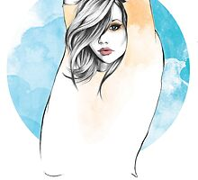 Cancer Zodiac Fashion Illustration by LizzieBowen