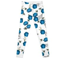 Blue Roses Leggings