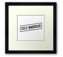 Cole Harbour White Framed Print