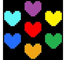 Pixel Hearts Photographic Print