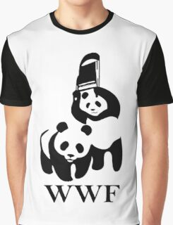 Panda Wrestling Graphic T-Shirt