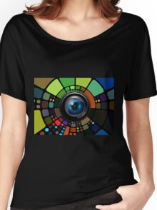 Camera Lens Graphic Design Women's Relaxed Fit T-Shirt