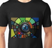 Camera Lens Graphic Design Unisex T-Shirt