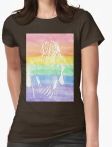 Rainbow Harry Styles Womens Fitted T-Shirt