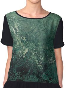 A swirl of vintage green Chiffon Top
