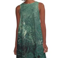 A swirl of vintage green A-Line Dress