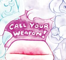 Gems!  Call Your Weapon! Sticker