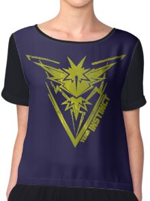 yellow team INSTINCT Chiffon Top