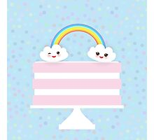 Happy Birthday Cake Card Photographic Print