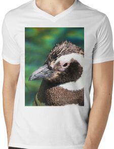 Penguin Pop Mens V-Neck T-Shirt