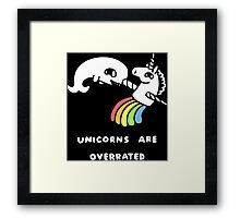 UNICORNS ARE OVERRATED T-SHIRT Framed Print