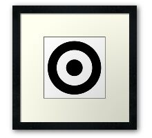 Black and white target Framed Print