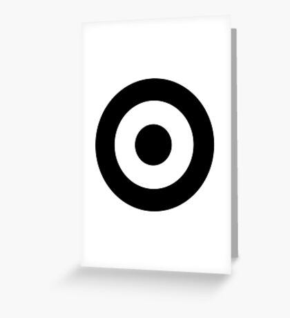 Black and white target Greeting Card