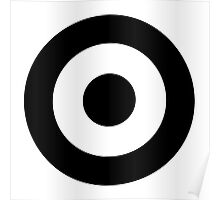 Black and white target Poster