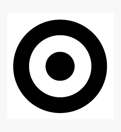 Black and white target Photographic Print