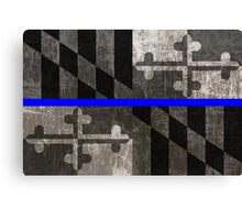 Maryland Thin Blue Line Canvas Print