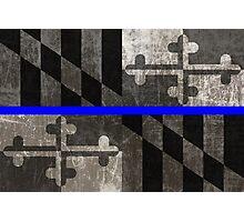 Maryland Thin Blue Line Photographic Print