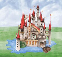The Red Queen's Castle (Moated) by ImogenSmid