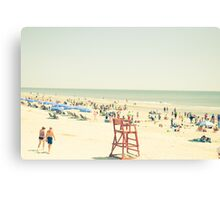 Summer Beach People Canvas Print