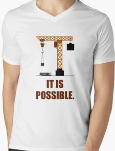 Impossible it is Possible - Business Quote Mens V-Neck T-Shirt