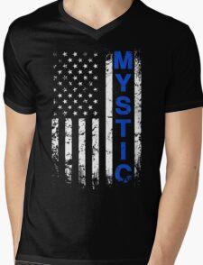 Team Mystic Pokego American Flag T-Shirt Mens V-Neck T-Shirt