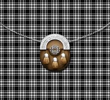 Royal Stewart Black And White Tartan And Sporran by thecelticflame