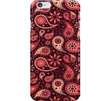Dark Pink Paisley iPhone Case/Skin