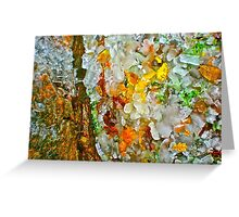 flowers white red yellow  Greeting Card