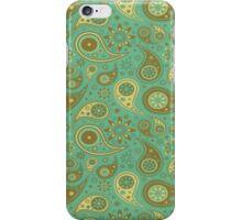 Cyan Paisley iPhone Case/Skin