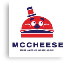 MCCHEESE FOR PRESIDENT 2016 Canvas Print