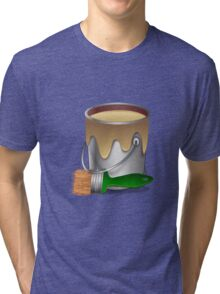 Paint bucket and Brush Tri-blend T-Shirt