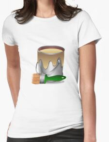 Paint bucket and Brush Womens Fitted T-Shirt