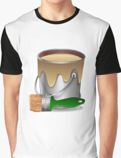 Paint bucket and Brush Graphic T-Shirt
