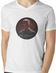 Time is a Flat Circle True Detective Mens V-Neck T-Shirt