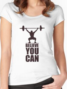 Believe you can - Business Quote Women's Fitted Scoop T-Shirt