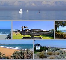 Hampton Collage with Swimmer by bayside2
