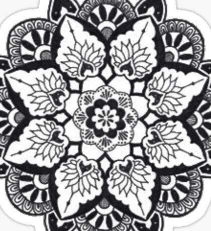B&W Mandala: Merch Sticker