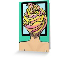 Icing Hair in Mirror  Greeting Card
