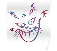 Crazy Cheshire Cat Grin Poster